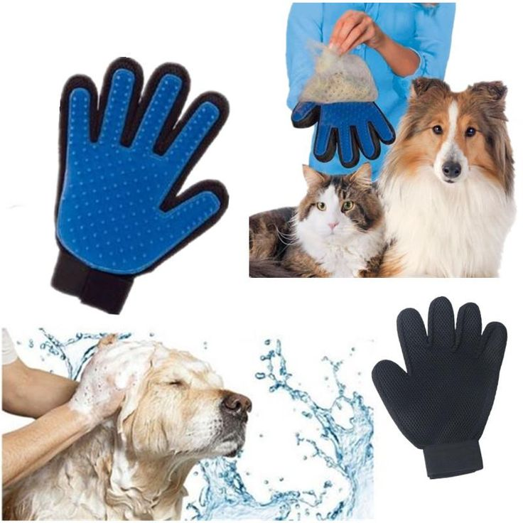 Product Silicone True Touch Glove Deshedding Gentle Efficient Pet Grooming Dogs Bath Pet Supplies Blue //Price: $9.95 & FREE Shipping //     #hashtag2