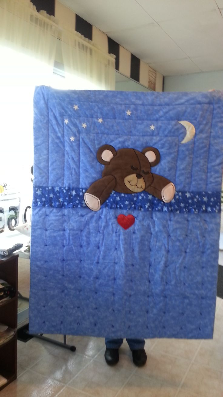 Susan Olinger brought in her Teddy Bear Quilt.  You could just hug it back couldn't you? 3/2014