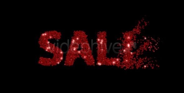 SALE, OFF and SAVE - Sparkling Title