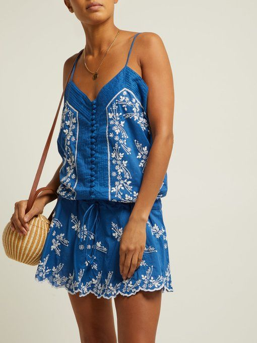 777942b7f5c11f outfit_1262604 Juliet Dunn, Embroidery, Cotton Slip, Matches Fashion, Tops,  Outfits,