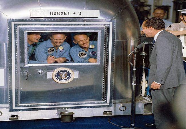 Cuando los tripulantes del Apolo XI fueron aislados ante el temor de una contaminación interplanetaria - Cuaderno de Historias