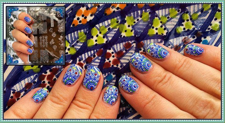 Раскрашенный Стемпинг / Leadling Stamping nail art CICI@SISI white serie... #стемпинг #stamping #ногти #маникюр #cnd  #shellac #гельлак