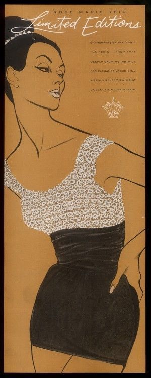 1961 Rose Marie Reid swimwear