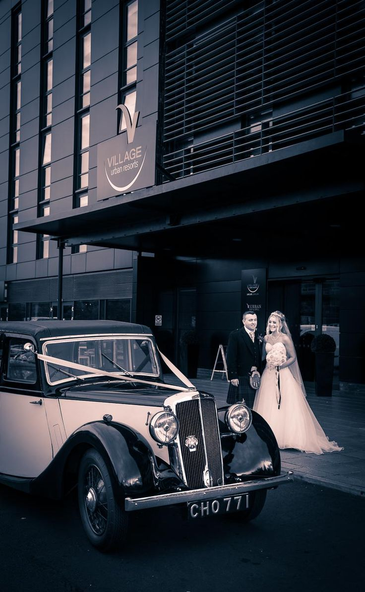 Classic Car For Your Wedding A Scottish At Urban Village Edinburgh Scotland