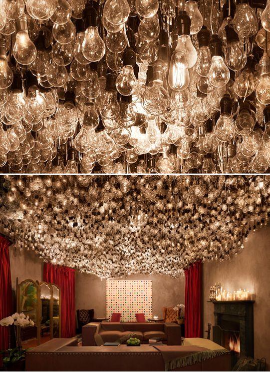 : Lightbulbs Galor, Ceilings Treatments, Bulbs Installations, Lights Fixtures, Awesome Lights, Gramerci Parks Hotels, Lights Bulbs, Gramercy Parks Hotels, Design