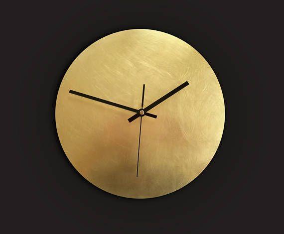 35cm Large Round Copper Rose Gold Modern Wall Clock Quartz Office Kitchen Home