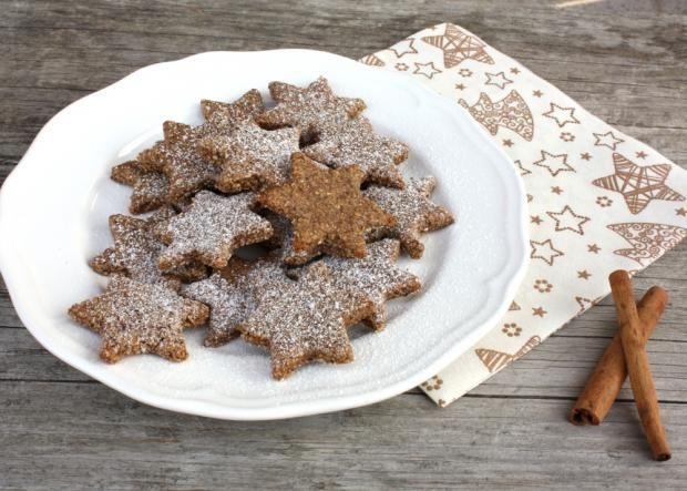 Škoricovo mandľové hviezdičky bez múky - recept