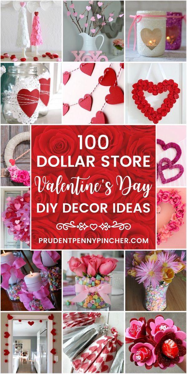 100 Dollar Store Valentine S Day Decorations Valentine S Day Diy Diy Valentine S Day Decorations Diy Valentines Day Wreath