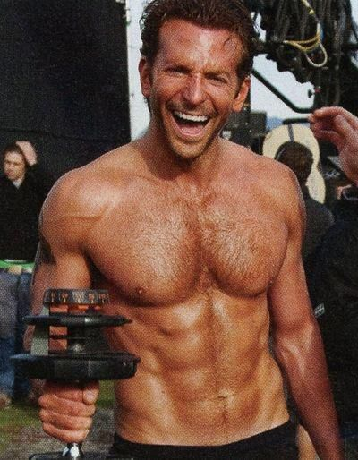 Bradley Cooper.. if there were guys at the gym who looked like this i would be there all day errrrryday