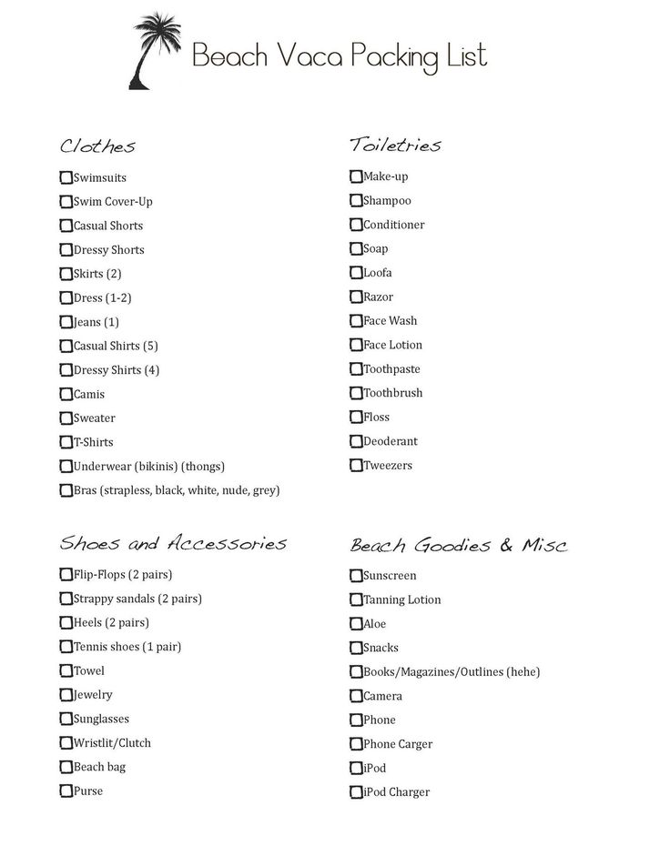 travel bineder checklists vacation packing list for beach house