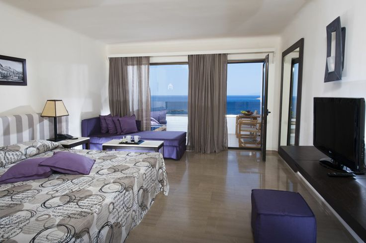 Enjoy the sea view from all rooms and suites in Minos Palace!