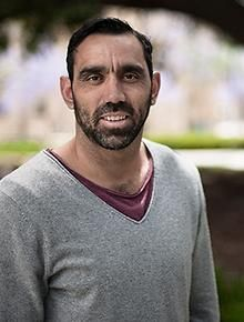 Who Do You Think You Are? Click through for the SBS page containing episodes of this TV program. (Pictured: Adam Goodes)