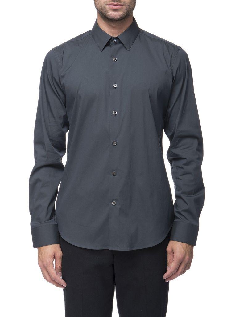 Theory - Menswear - FW16 // Khaki Sylvain shirt in stretch cotton