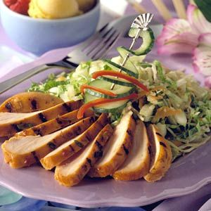 A balance of sweet, sour, and spicy flavors are often noted in Thai dishes. This chicken recipe is an example of lively and tempting combination.