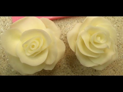 Making a Rose using Molding Chocolate... - YouTube