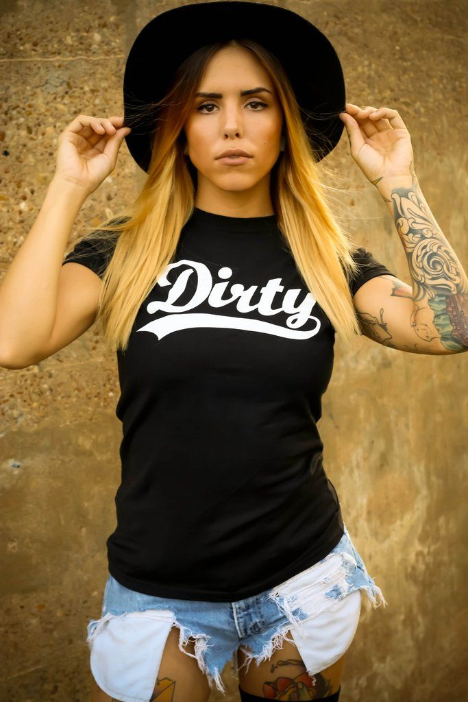 Women S Quot Dirty Logo Quot Tee By Dirty Shirty Black Inked