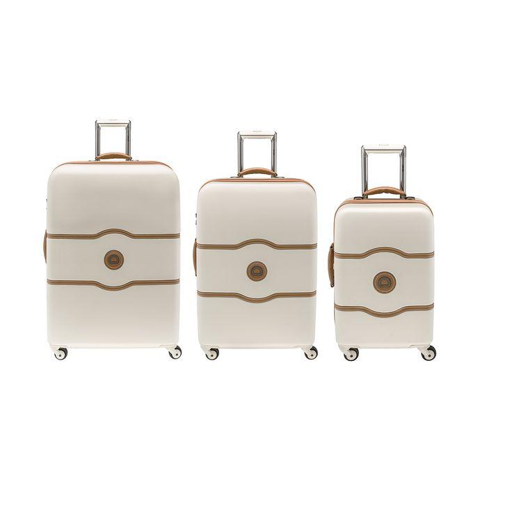 Delsey Luggage Chatelet Hardside 3 Piece Spinner Luggage Set (One size, Black)
