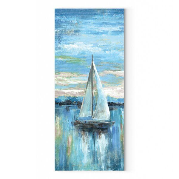 Evening Bay Ii Oil Painting Print On Wrapped Canvas In 2021 Sailboat Painting Oil Painting Painting