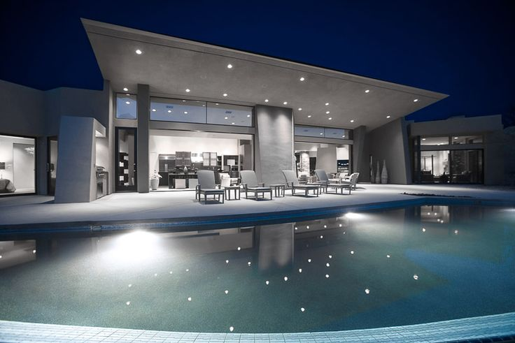 Good LED Pool Lights | Super Bright LEDs Beautiful, Clean Cool White Lighting  For Pool Patio Areas | LED Home Exterior Lighting | Pinterest | Patios, ...