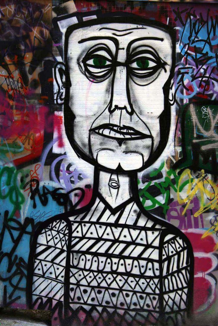 Graffiti art with meaning - Street Art In Hosier Lane