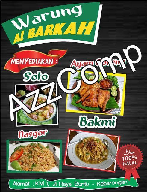 Contoh Desain Daftar Menu Makanan cdr   Kumpulan Desain ...