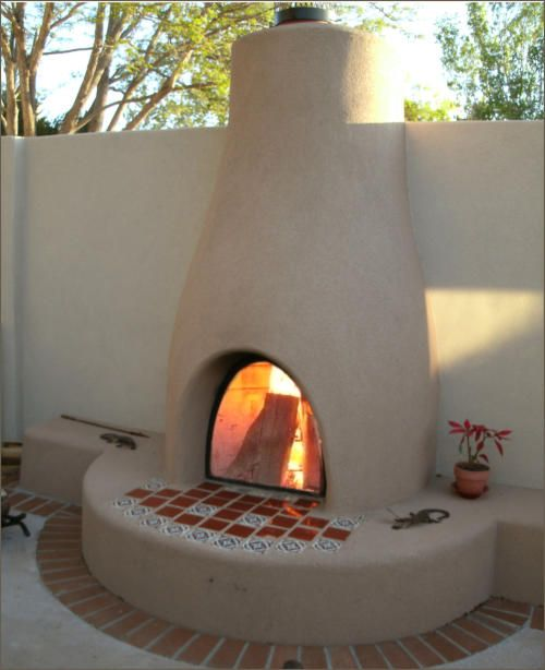 59 best images about kiva fireplaces on pinterest for Spanish style outdoor fireplace