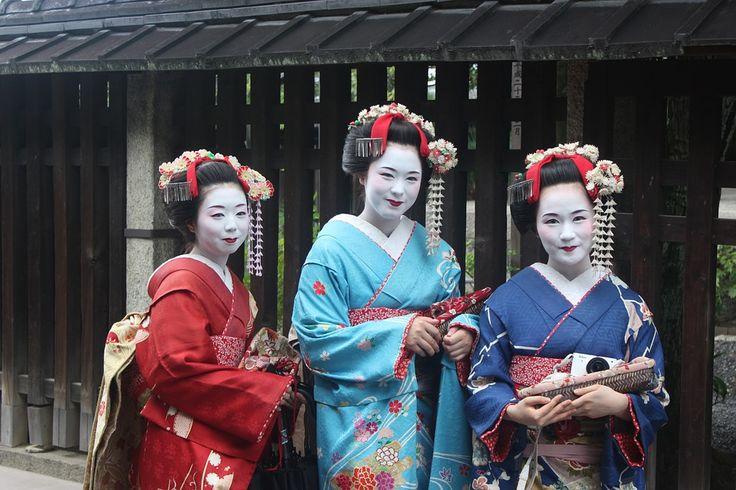 Geisha, Girls, Kimono, Culture, Woman, Make-Up