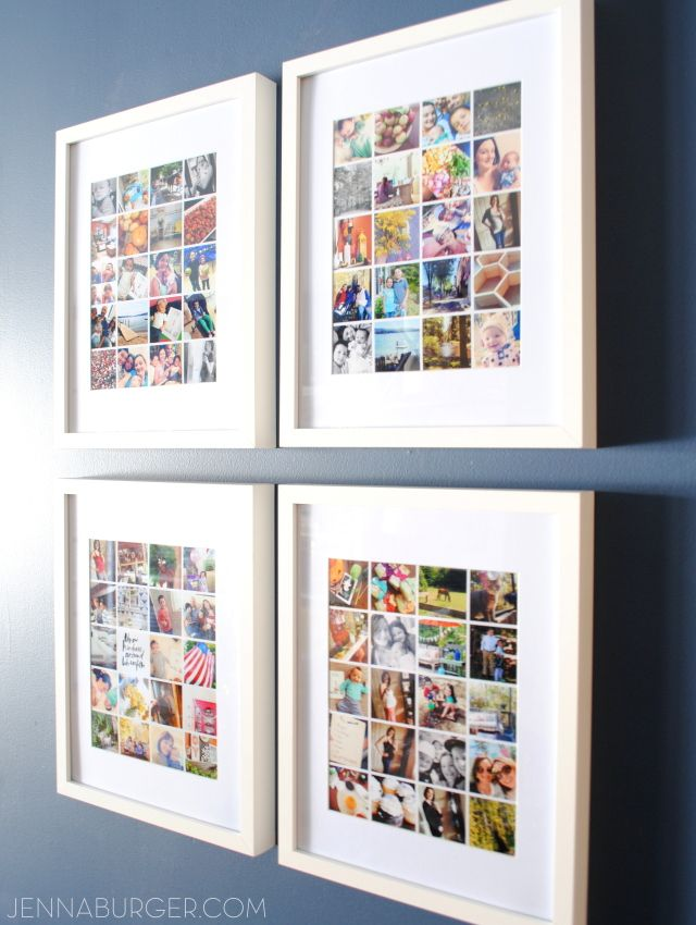Easy-to-Make Photo Collage using Instagram or digital photos for less than $5…