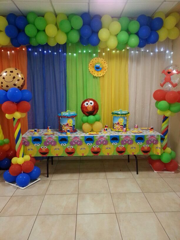 1000 images about sesame street baby shower ideas on for B day party decoration ideas