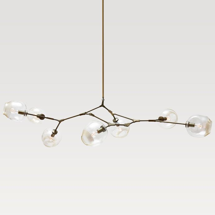 For over table: Lindsey Adelman bubble chandelier can make to order for size # of bulbs