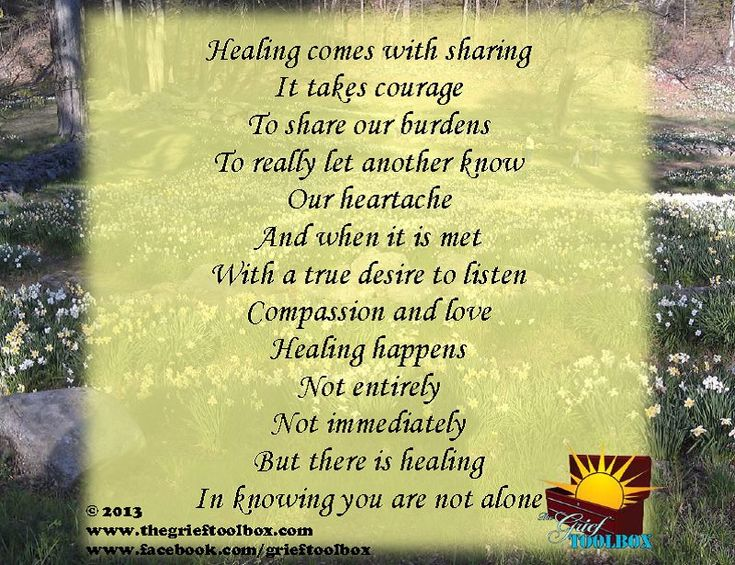 Healing in knowing you are not alone A Poem | The Grief ...