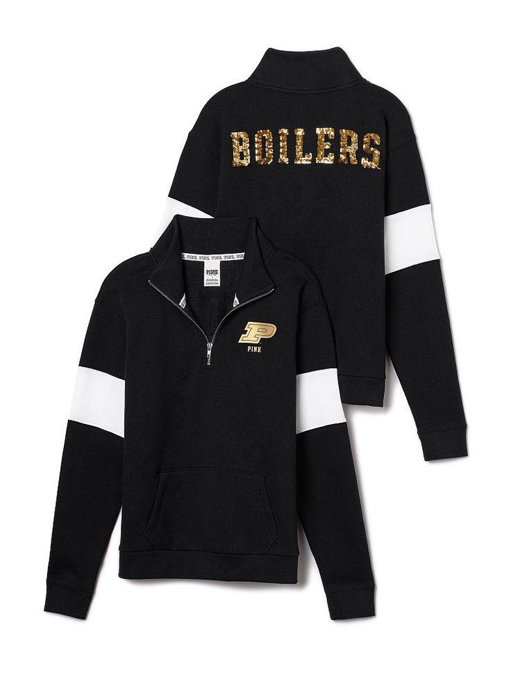 Purdue University Bling Half-Zip Pullover - PINK - Victoria's Secret