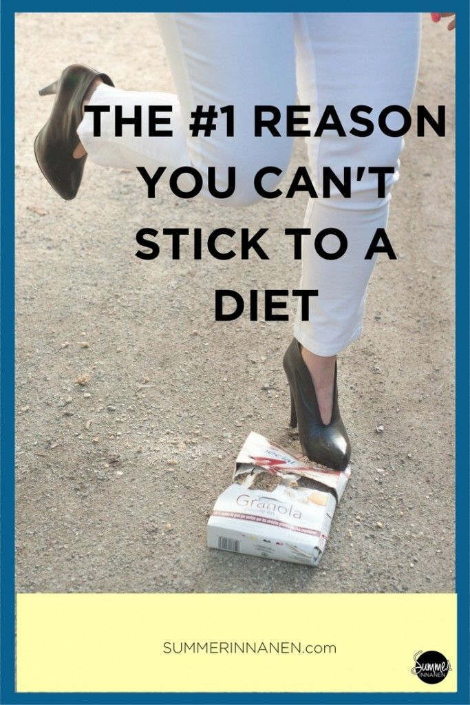 The missing piece of the puzzle on why you can't stick to your diet.  #intuitiveeating #haes