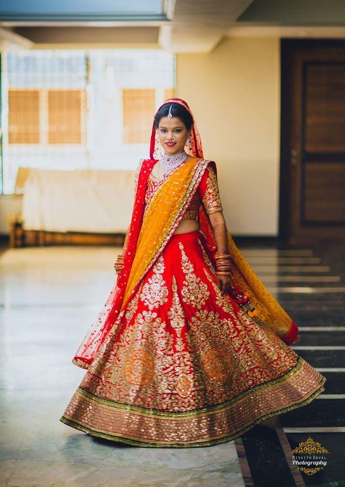 Beautiful Lehenga for beautiful bride! Photo by Nishith Dayal, Mumbai #weddingnet #wedding #india #indian #indianwedding #ceremony #indianweddingoutfits #outfits #backdrops #prewedding #photographer #photography #inspiration #gorgeous #fabulous #beautiful #jewellery #jewels #details #traditions #accessories #lehenga #lehengacholi #choli #lehengawedding #lehengasaree #saree