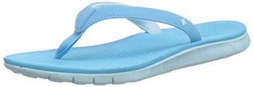 Hurley (Shoes) WOMENS FLEX SANDAL, Mädchen Dusch- & Badeschuhe, Blau (ice cube), 36.5 EU - http://on-line-kaufen.de/hurley-shoes/36-5-eu-hurley-shoes-maedchen-dusch-badeschuhe