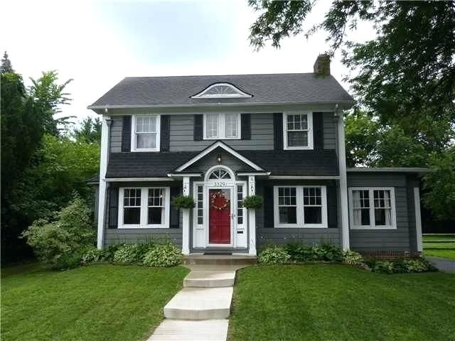 Image Result For Dark Grey House With Black Shutters Gray House Exterior Exterior Paint Colors For House Exterior House Colors