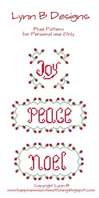 ! Happiness is cross stitching !: Free Christmas Cross Stitch design and progress on Peace cross stitch