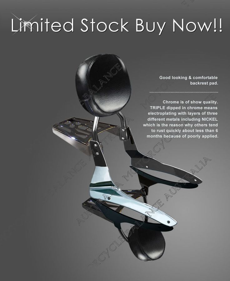 31 best motorcycle parts and accessories images on pinterest sissy bar backrest pad luggage rack for 2007 up yamaha v star 950 v fandeluxe Image collections