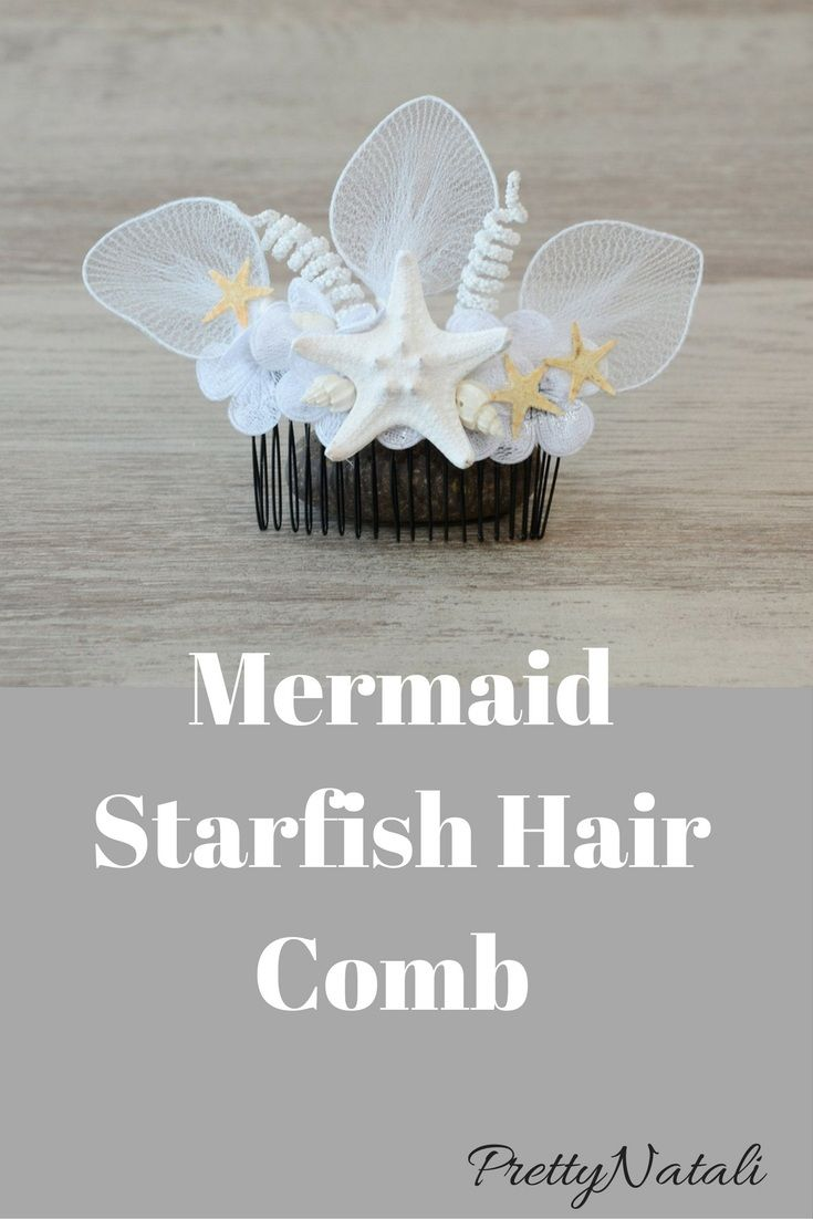 This lovely beach hair comb was handmade by me using small natural and hand painted starfishes, real seashells, lace flowers and artificial flowers. The perfect idea to your beach wedding or any beach themed occasion. Starfish Hair comb, Mermaid Hair Accessory, Beach Wedding, Seashells Flower Hair comb, bridal Hair clip, Nautical Wedding,  Bridesmaid accessory #beachwedding #mermaidwedding #mermaidhair #haircomb #bridesmaid #coastalwedding