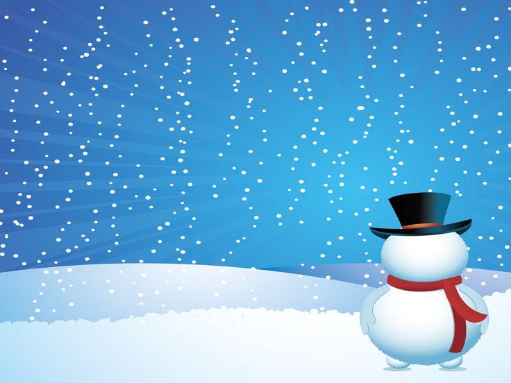 christmas snow powerpoint templatesfree religious
