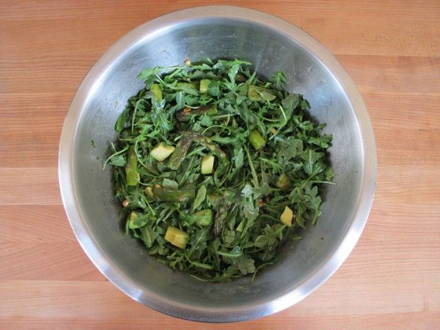 Roasted Asparagus, Avocado and Arugula Salad - Healthy Flavorful Recipe