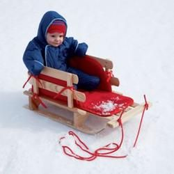Infant and Toddler Outdoor Winter Toys: Toddler Wooden Rosebud Sled and Handle, Sled  $149.00