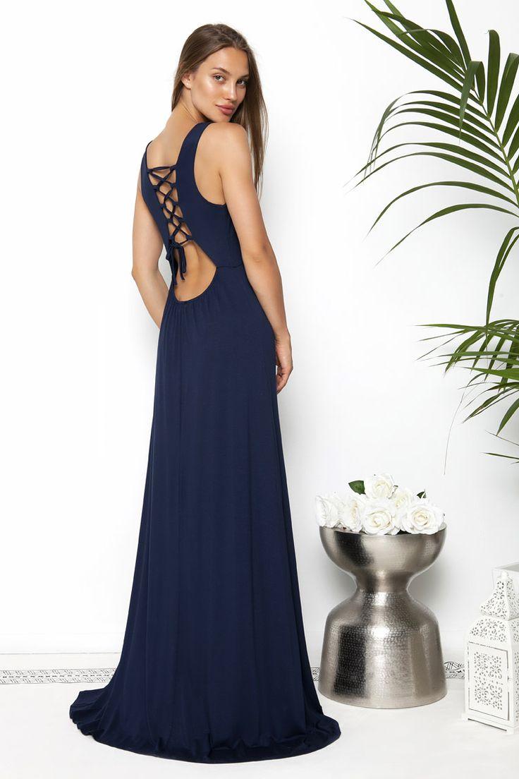 Cut Out Maxi Backless Φόρεμα - ΡΟΥΧΑ -> Φορέματα & Φόρμες | Made of Grace