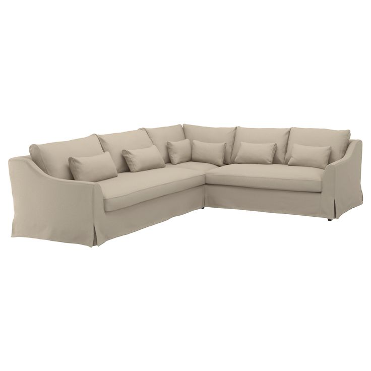 IKEA - FÄRLÖV Sectional cover, 5-seat sofa left Flodafors beige