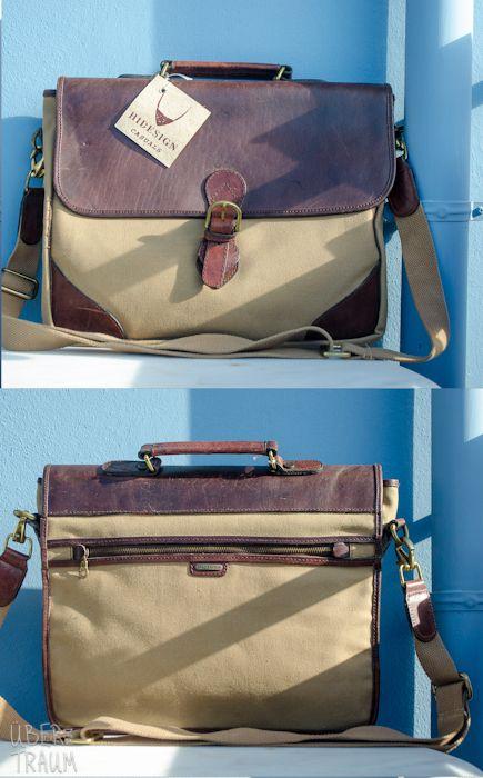 90's HiDesign Leather & Canvas Office Bag - Über den Traum