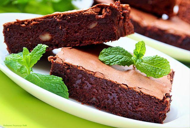 Miętowe brownie