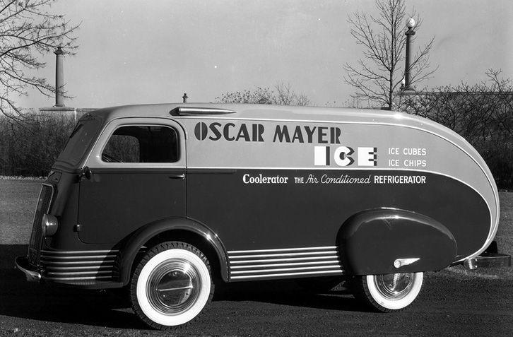 Oscar Mayer ice truck designed by Brooks Stevens.