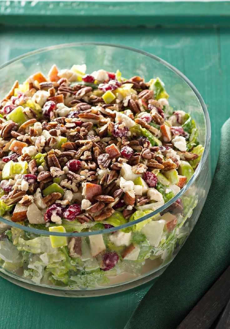 Festive Apple-Cranberry Salad -- Whip up this festive salad recipe with apples and cranberries for your next dinner party. Then sit back, relax and let the compliments come your way.