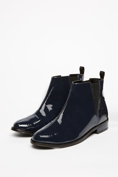 Chinthurst Chelsea Boots - We have a lot to thank the sixties for and the Chelsea boot trend is certainly one major thing. We love the timeless shape: round toe, low on the ankle with the slightest block heel for that air of smart. Choose from classic navy or a statement silver and wear with literally everything in your wardrobe. Anything goes. | Jack Wills UK
