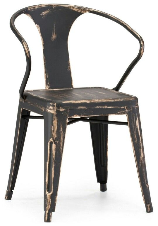 helix dining chair antique black gold set of